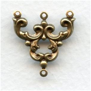 Three Strand Connectors OOH LA LA! Oxidized Brass (12)