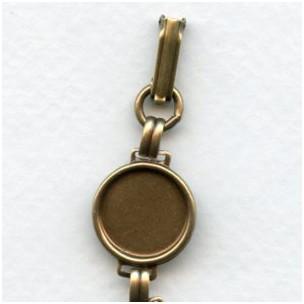 Linked Bracelet Finding Oxidized Brass 13mm Settings (1)