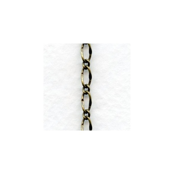 Small Fancy Curb Chain Oxidized Brass 3 Ft