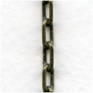 Diamond Cut Cable Chain Oxidized Brass 7x3mm Links (3 ft)