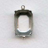 Cushion Octagon 18x13mm Settings Oxidized Silver (12)