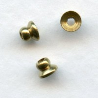 Bead Top Brass Spacer Bead Caps 4mm Smooth (24)