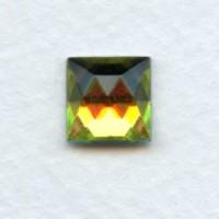 Vitrail Med Square Flat Foil Back Glass Stones 10x10mm (2)