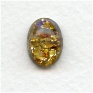 Topaz Handmade Glass Opal Cabochon 14x10mm