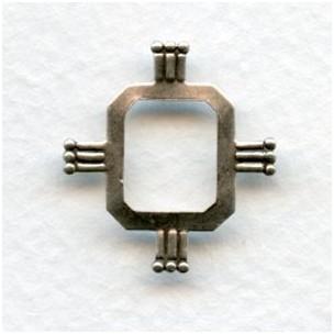 Cushion Octagon Setting Effects 23x22mm Oxidized Silver