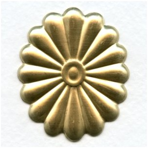 Raw Brass Conchos 50mm (3)