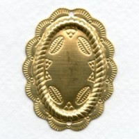 Raw Brass Conchos with Holes 43x33mm (3)