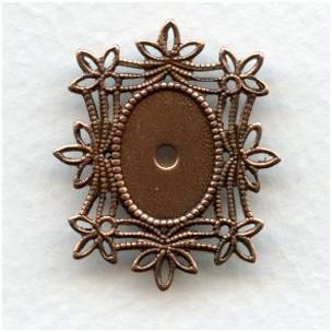 Filigree Edge 14x10mm Oxidized Copper Settings (6)