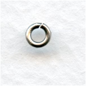 Heavy 18 Gauge 4.4mm Round Jump Rings Oxidized Silver (50)