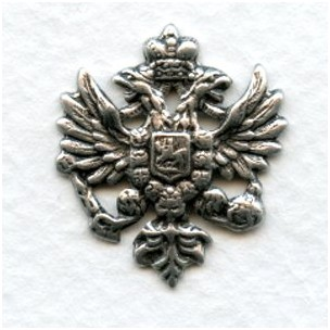 Coat of Arms Heraldry Oxidized Silver 25mm (6)