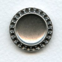 ^Smooth Back 14mm Setting for a Cabochon and Rhinestones (1)