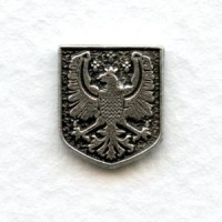 ^Royal Medallion Solid Back Oxidized Silver 13x11mm (6)