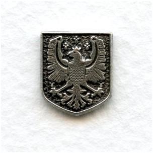 ^Royal Medallion Solid Back Oxidized Silver 13x11mm (6)