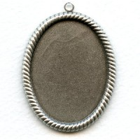 Rope Edge Setting Oxidized Silver 40x30mm (3)