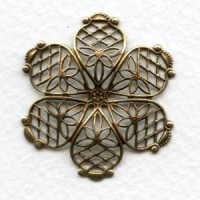 Dapt Filigree Flower Oxidized Brass 35mm (1)