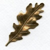 Oak Leaf Stampings Oxidized Brass 55mm (3)
