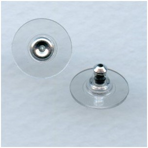 Earring Clutches with Stabilizer Discs Nickel (24)