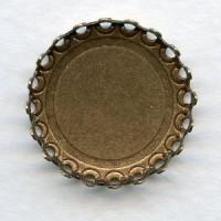 Crown Edge Settings 18mm Oxidized Brass (6)