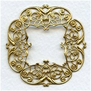 Filigrees Raw Brass